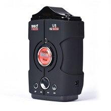 AUTO 360 Grad Erkennung Akustischer alarm Anti-radar-detektor Geschwindigkeit Begrenzte Russisch/Englisch fahrzeuggeschwindigkeit jan22 led