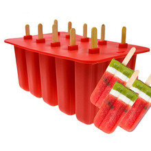 10 Celular Infancia Cubo de Helado Con Tapa de Silicona Moldes de Paleta Bandeja Reutilizable Pop Frozen Lolly Molde Sartén Utensilios de cocina