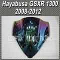 motor Magic color  Double Bubble Windshield/Windscreen - Light iridium For Suzuki Hayabusa GSXR 1300 2008 2012 09 10