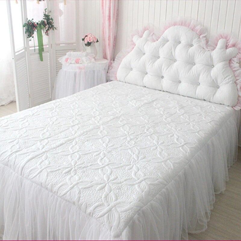 Роскошная белая кровать, юбка, одеяло, покрывало для свадебного украшения, текстиль, элегантные постельные принадлежности для принцессы, ев