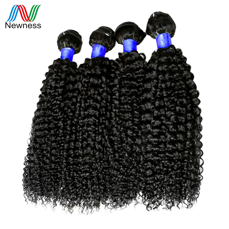 Newness Hair Indian Curly Weave Human Hair 4pcs Natural Color Indian Virgin Hair Afro Kinky Curly Hair 4 Bundles 12-30 Inch