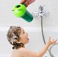 Forma Sapo dos desenhos animados Do Bebê kid Shampoo Lavar Copo Copo Crianças Trajes de Banho Do Chuveiro de Bebê Colher Criança