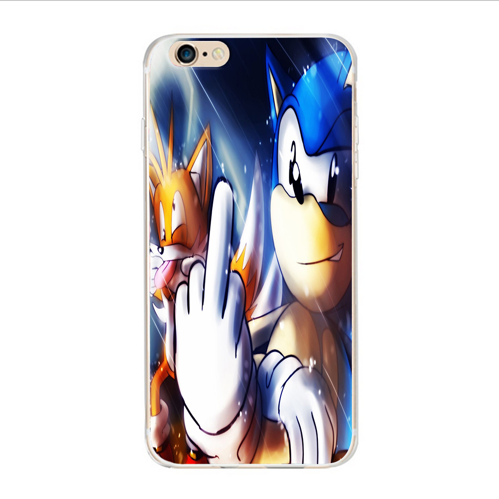 Interesting sonic cartoon design For iphone 5 5S SE 4S 6 6S 7 Plus Hard  plastic case For Samsung Galaxy S7 S3 S4 S5 S6 edge-in Half-wrapped Case  from ...