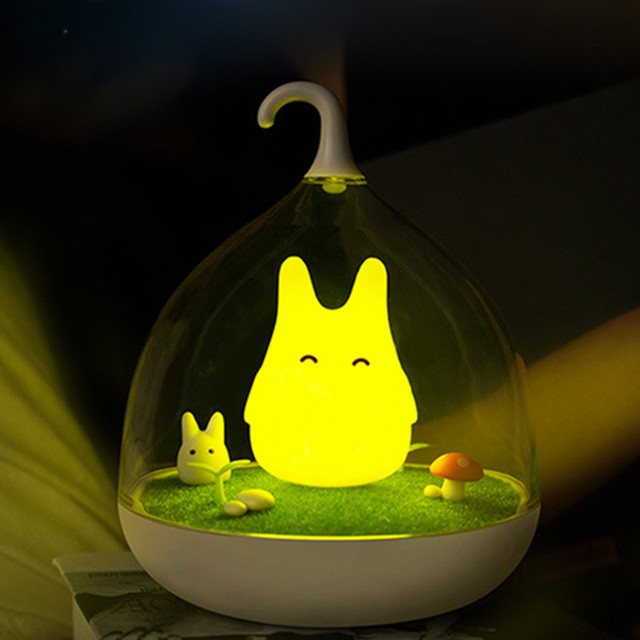 2016 Newest Style night light The Totoro Lamp Portable Touch Sensor USB Led Baby Night Light Bed side Lamp For Children Gifts