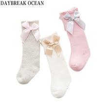 Newborns Baby Fashion Bowknot 0-12 Month Soft Cotton Thicken Warm Terry Socks For Toddler Autumn Winter Kids Infant Girls Socks