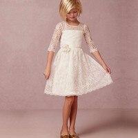 Vestidos de comunion 2019 first communion dresses princess white flower girl dresses girls white Lace communion dresses