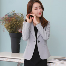 2020Autumn Korean Version Women Suit Clothes  New Style Winter One Button Long Sleeve Designs Work Wear Female Fashion Slim Tops spring korean version chiffon women white shirt 2019 new style autumn fashion stand collar work wear female slim bottom blouses