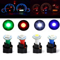 Qook 10 Sets Car Auto DC 12V 0.2W T5 LED 5050 SMD Instrument Panel Dash Light Bulb Holder White Color