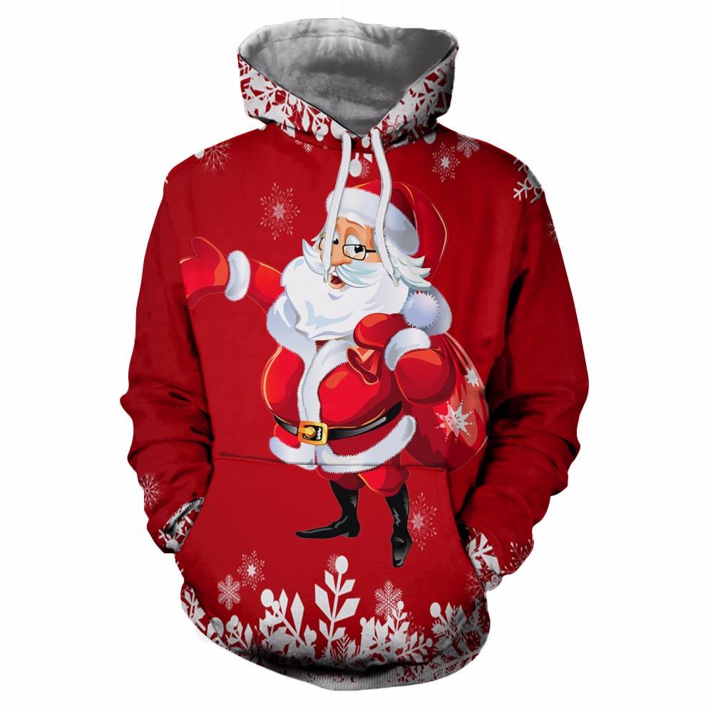 2018 Neue Männer 3d Sweatshirts Weihnachten Pullover Frauen Mops Schnee Weihnachtsbaum Hut Deer Katze Hund Weihnachtsmann Marken-kleidung Hoodie