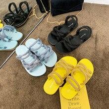 HKCP Grass woven hemp rope sandals women 2019 summer new Korean version outside wearing flat beach shoes slippers C256
