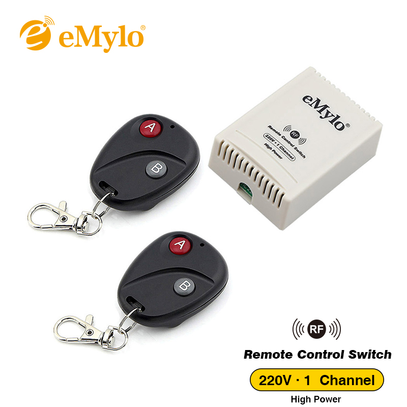 eMylo Smart Wireless Switch AC 220V 30A Round Transmitter 1 CH Relay RF 433mhz Wireless Remote Control Light Lamp Led Switch manual wireless smart remote control 1ch switch for led lamp ac 220v remote switch electrical curtain light wireless switch