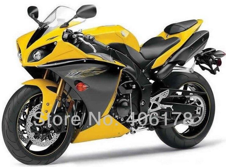 Горячие продаж,Yzf1000R1 09 10 11 полный комплект для YAMAHA YZF Р1 2009 2010 2011 гонки желтый и черный мотоцикл Обтекатели (литье под давлением)