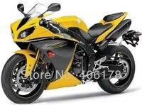 Hot Sales,Yzf1000R1 09 10 11 full set For Yamaha Yzf R1 2009 2010 2011 Race Yellow & Black Bike Fairings (Injection molding)