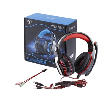 Wired GM-2 Gaming Headset Headphones with Microphone LED Light Stereo Surround Headphone for Computer Gamer Smartphones