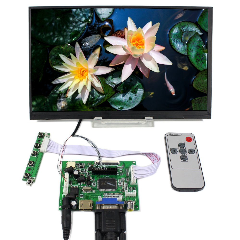 HDMI+VGA+2AV Controller board+10.6inch LTL106AL01 1366*768 IPS HD Lcd panel screen model lcd for Raspberry Pi hdmi vga av audio usb fpv control board 13 3inch 1366 768 n133bge lp133wh2 lcd screen model lcd for raspberry pi