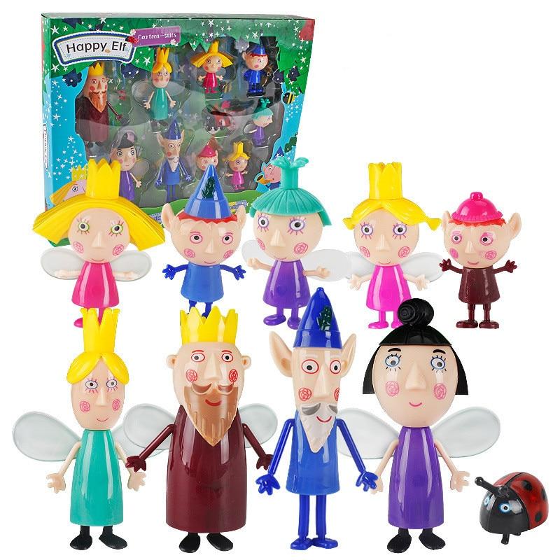 10pcs/set Little Kingdom Ben Holly Action Figure 2-9cm PVC Figurines Ben and Holly Little Kingdom Mini Figures Toys Kids Gift