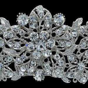 Image 2 - Alta qualidade cristal nobre flor nupcial tiara coroa headbands casamento jóias acessórios para o cabelo feminino frete grátis 4714