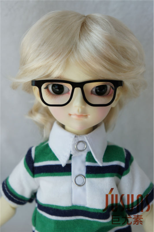 1/6  BJD wigs 6-7inchYOSD Smooth Cut  doll wigs BB synthetic mohair toy wig Lati Green doll accessories