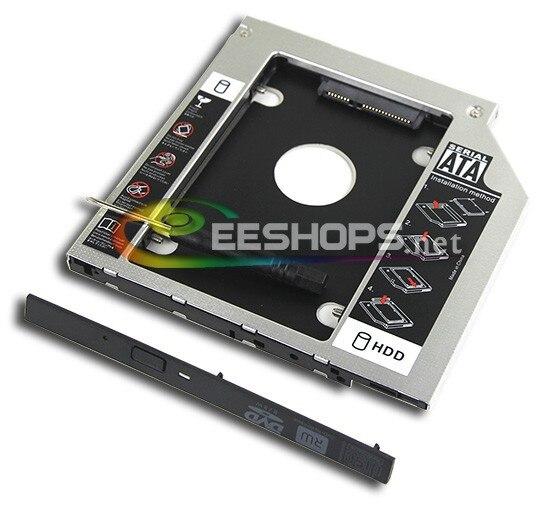 Laptop 2nd HDD SSD Caddy Second Hard font b Disk b font Enclosure Optical Drive Bay