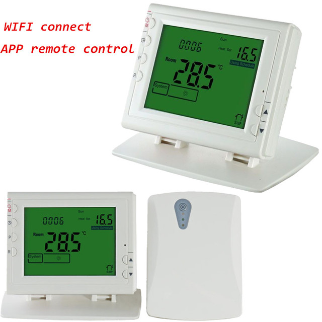 WIFI Wireless Programmable thermostat for Electric/Water/Boiler ...