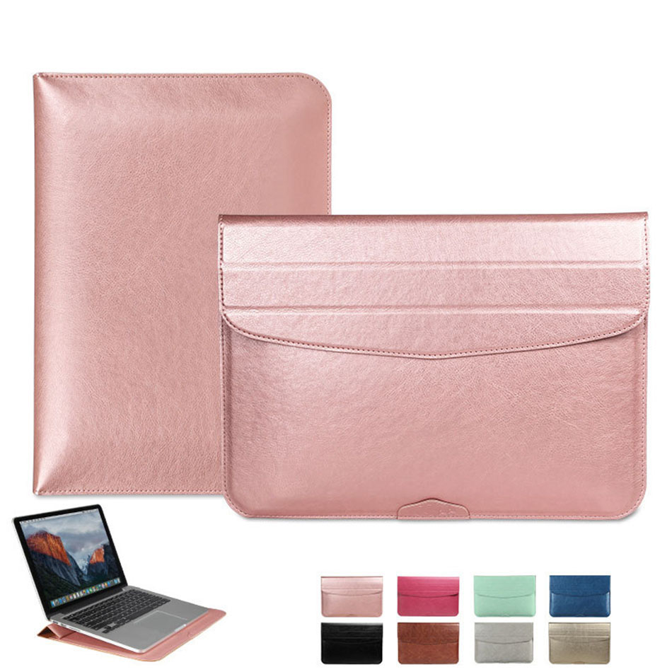 Fashion PU Laptop Sleeve Bags Case for Macbook Air 11 12 13 15 inch Xiaomi Mi Notebook 12.5 13.3