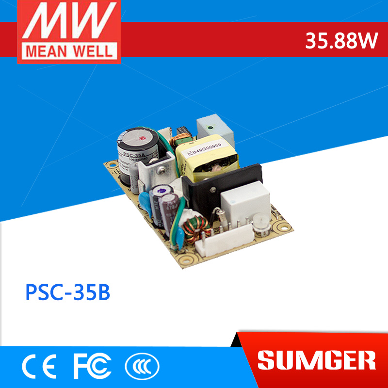 [Sumger2] MEAN WELL original PSC-35B 27.6V meanwell PSC-35 35.88W Single Output with Battery Charger(UPS Function) PCB type лопата truper psc b ws 33813