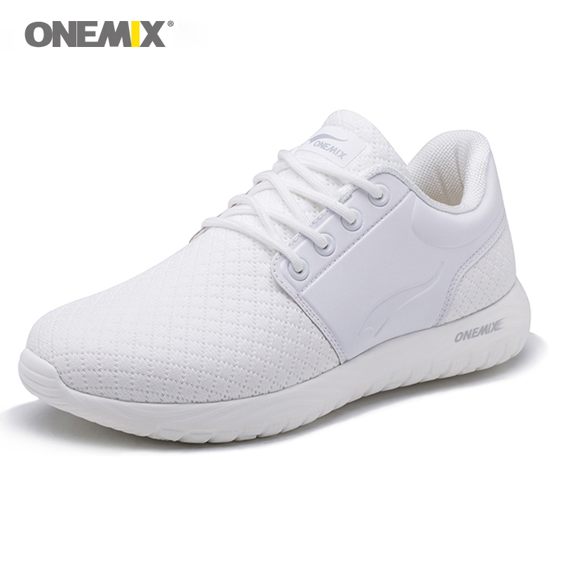 New Onemix Women s Running Shoes Breathable Mesh Sports White Sneaker Lightweight Cushioning DMX Sneakers for