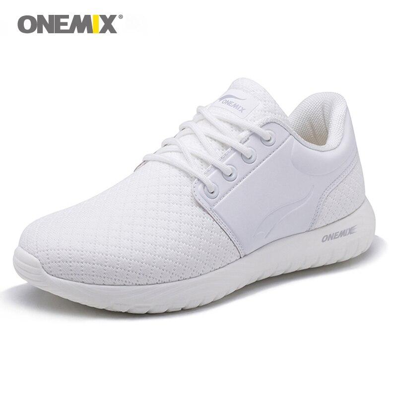 Nouvelles chaussures de course femmes Onemix respirant maille sport blanc Sneaker léger amorti DMX baskets pour chaussures de marche
