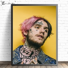 цены Lil Peep Classic Figure Singer Posters and Prints Wall art Decorative Picture Canvas Painting For Living Room Home Decor Unframe