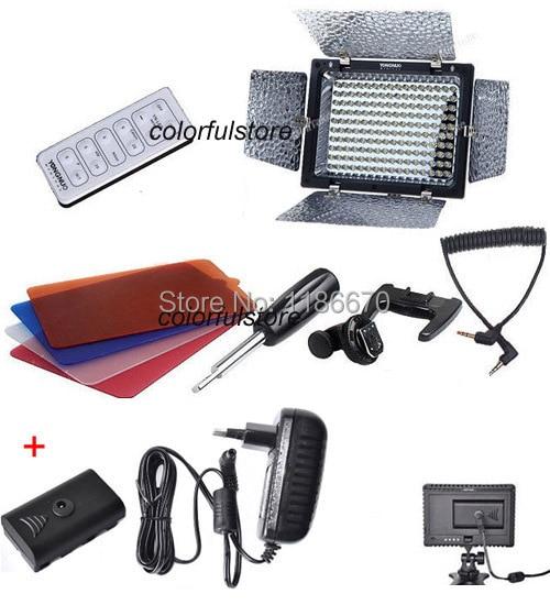 FREE SHIP YN160II YN-160II  YN-160 II 2 YN160 160 LED Video Light For Canon Nikon Pentax Panasonic JVC Olympus+ AC Power Adapter led телевизор panasonic tx 43dr300zz