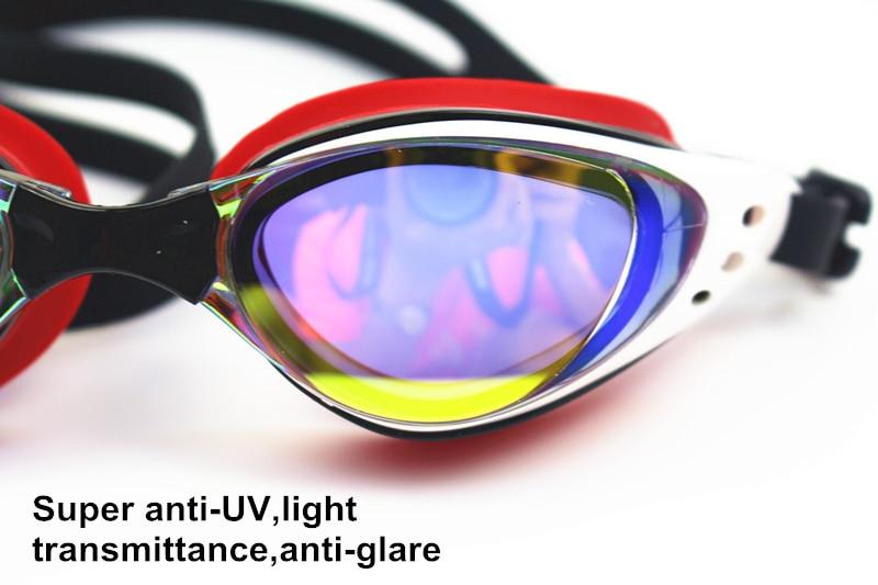 Men Women Myopia Electroplate Waterproof Swim Diopter Eyewear And Anti Fog UV Protection Goggles 4