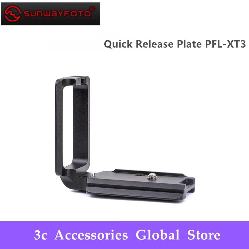 SUNWAYFOTO PFL-XT3 tête de trépied plaque de dégagement rapide pour Fujifilm XT3 tête de trépied l-support spécifique en aluminium plaque de dégagement rapide
