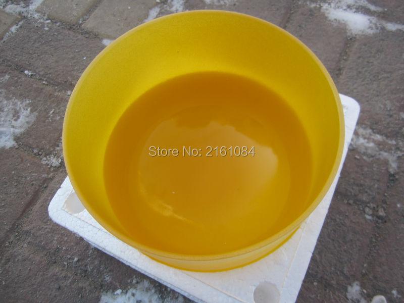 ФОТО Yellow Color E# Solar Plexus Chakra Frosted Quartz Crystal Singing Bowl 8