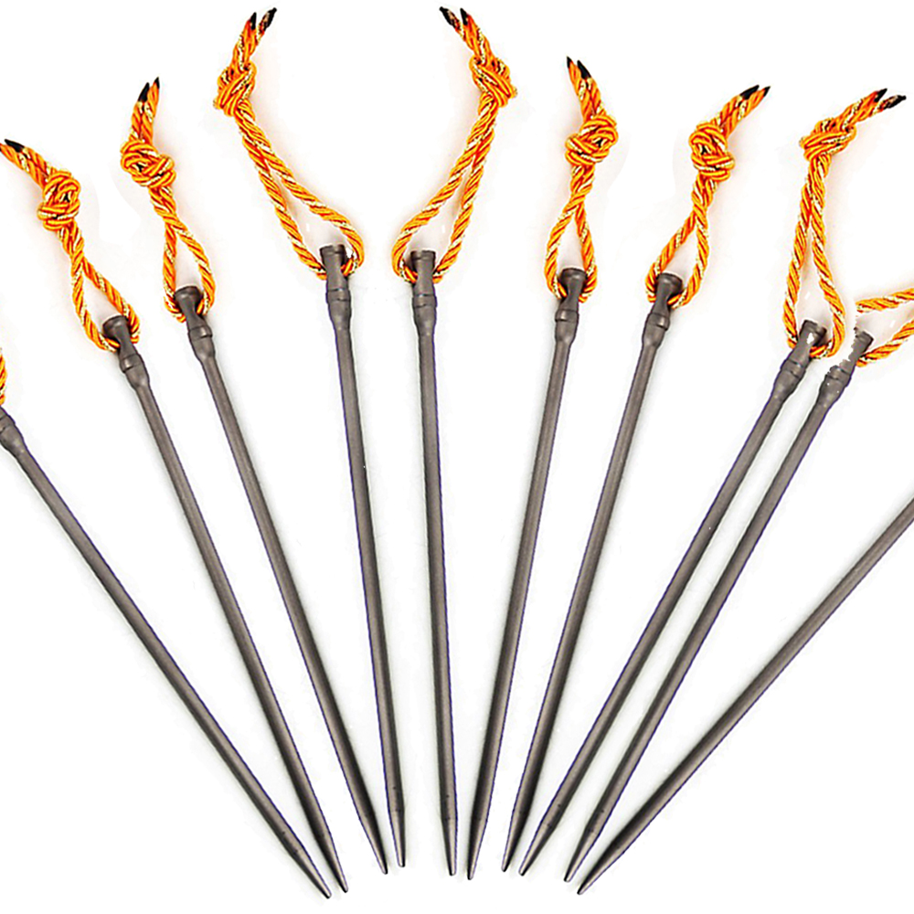 Image 5 - 1pc 165mm Ultralight Titanium Alloy Tent Peg Windproof Outdoor Camping Tent Nail Stake 15g Tents Accessories-in Tent Accessories from Sports & Entertainment