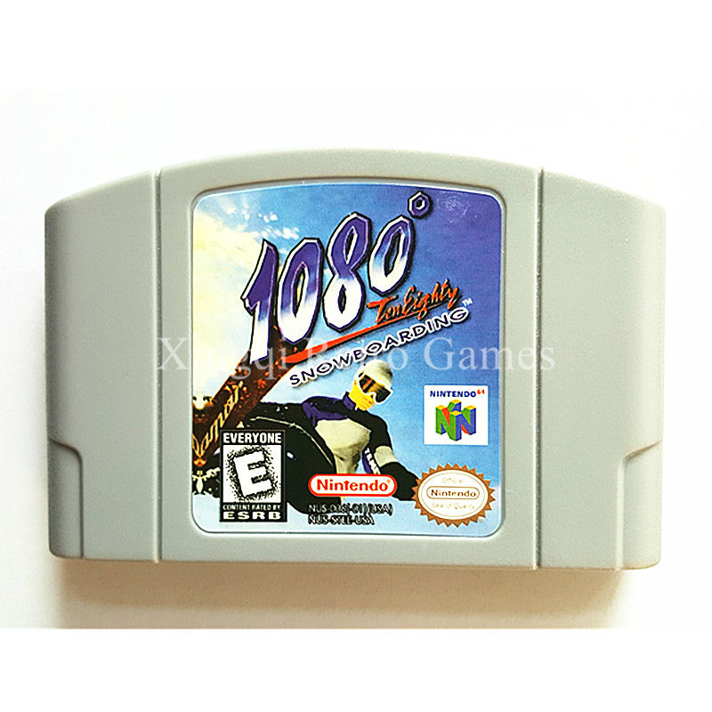 Nintendo N64 Game 108 Snowboarding Video Game Cartridge Console Card English Language US Version