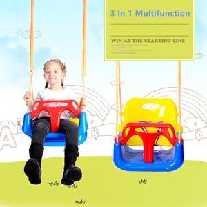 Image 5 - 3 In 1 Multifunctional Baby Swing Hanging Basket Outdoor Kids Toy Baby Swing Toy Patio Swings