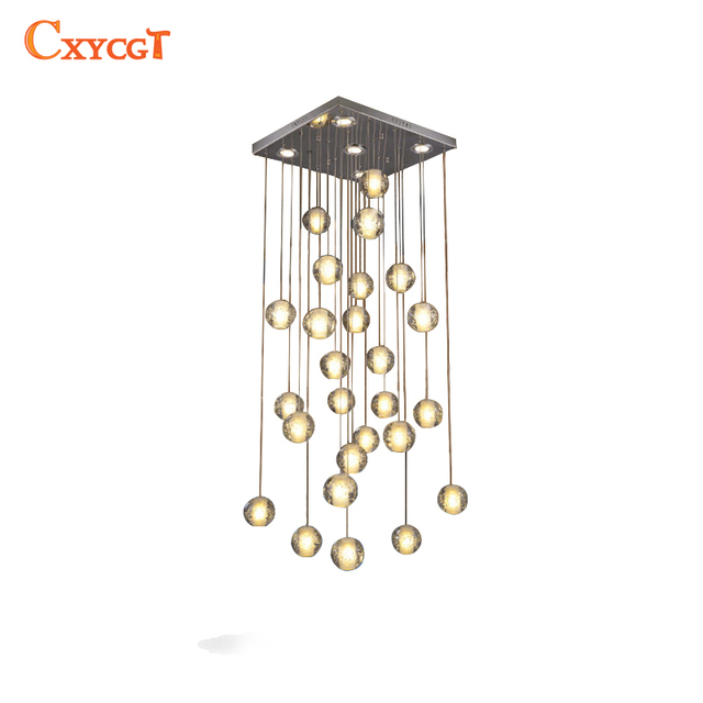 Modern led crystal pendant lights fixtures magic crystal ball lustre modern led crystal pendant lights fixtures magic crystal ball lustre loft stairwell 12 crystal light meteor aloadofball Image collections