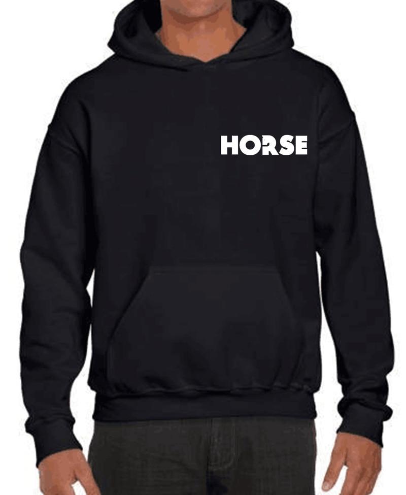 Hoodie Sweatshirt Letter Horse Loose Jersey Printing Clothes Wild Print Collar Hoodies for Men