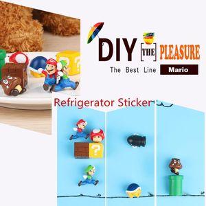 Image 5 - 10 pièces 3D Super Mario Bros aimants pour réfrigérateur réfrigérateur aimant Message autocollant adulte homme fille garçon enfants enfants jouet cadeau danniversaire