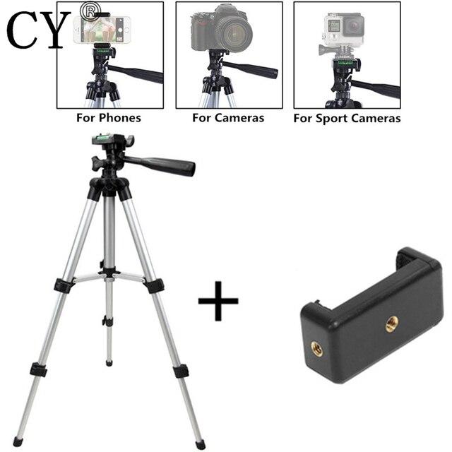 Tripé para câmera e celular, tripé + suporte para iphone 8, 8 plus, ios, android, mini tripé