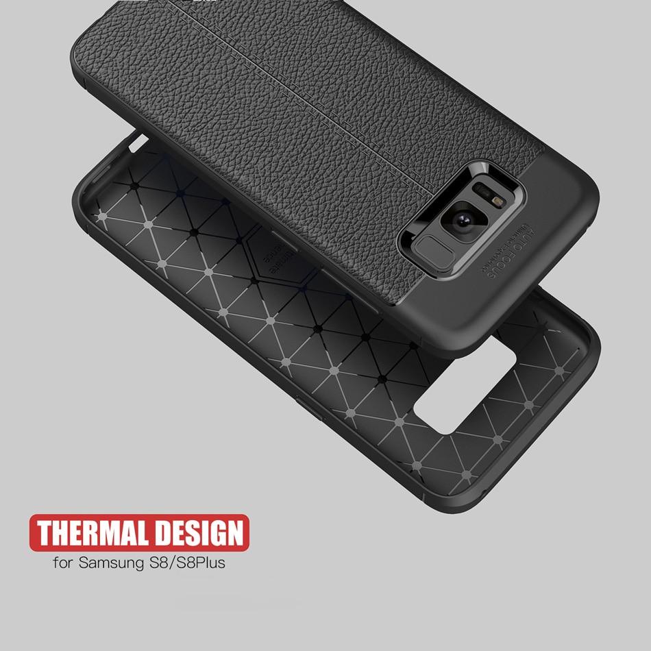 Samsung Galaxy S8 S8 Plus üçün karbon lifli toxumalı TPU silikon - Cib telefonu aksesuarları və hissələri - Fotoqrafiya 3