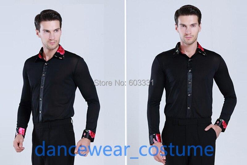 New Men/'s Party Ballroom Latin Tango Rhythm Salsa Dance Shirt Tops S//M//L//XL//XXL