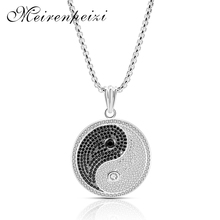 2019 fashion Tai Chi pendant necklace men and women gold silver collar new charm jewelry