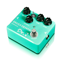 лучшая цена Free shipping Dr. J Green Crystal Hand Made Overdrive Electric Guitarra Guitar Effect Pedal Overdrive efeito True Bypass D50