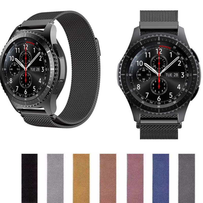 20 22mm Band Pebble Time Samsung Galaxy Watch Active 42 46 Gear Sport S2 S3 Zenwatch 1 2 Ticwatch E Pro C2 Neo Live Strap