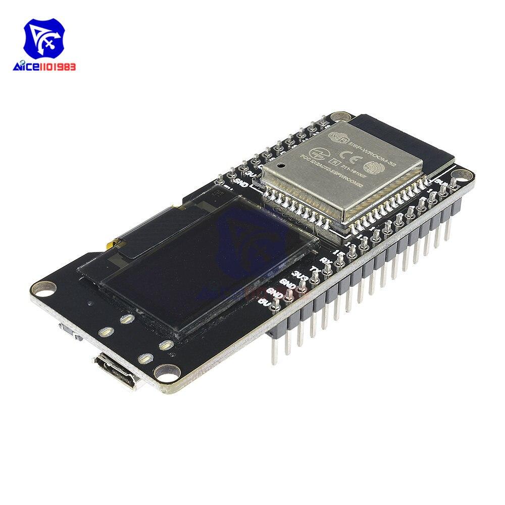 ESP32 ESP-WROOM-32 0.96 Inch OLED Display 2.4GHz WiFi Bluetooth Dual Mode Development Board Module for Arduino Wemos D1 AP STAESP32 ESP-WROOM-32 0.96 Inch OLED Display 2.4GHz WiFi Bluetooth Dual Mode Development Board Module for Arduino Wemos D1 AP STA