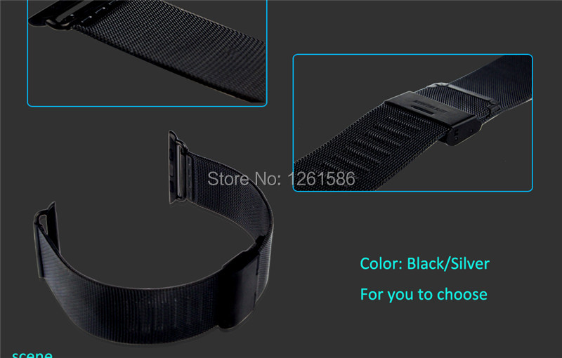 for Apple Watch iPhone Stainless Steel Band+Bamboo Wood Charging Bracket  2B