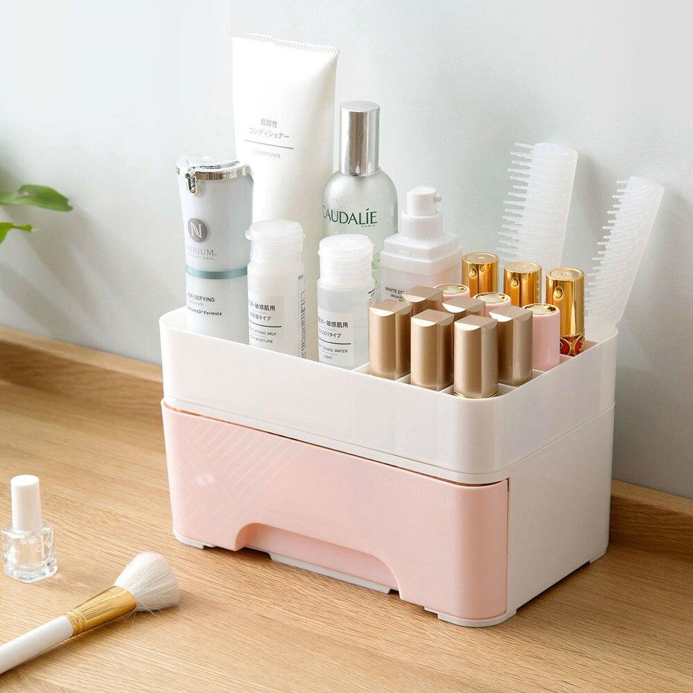 Cosmetic storage box drawer dressing table storage rack desktop plastic skin car