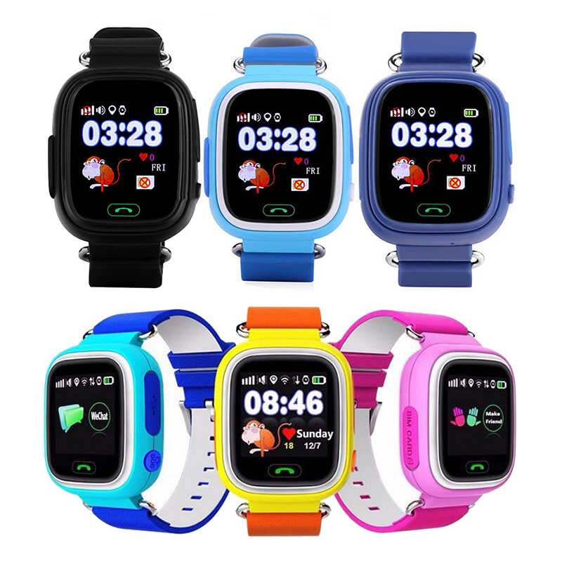Q90 GPS Child Smart Watch Phone Position Children Watch Anti-lost SOS Call Location Tracker for Smart Kids Safe Watch