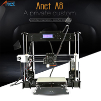Anet Auto A6 A8 3D Printer High Print Speed Reprap Prusa i3 High Precision Toys DIY 3D Printer Kit with Filament Aluminum Hotbed